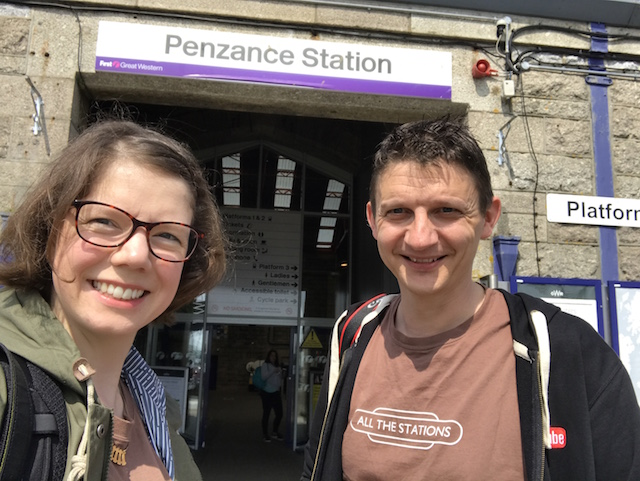 All The Stations: Geoff and Vicki at Penzance