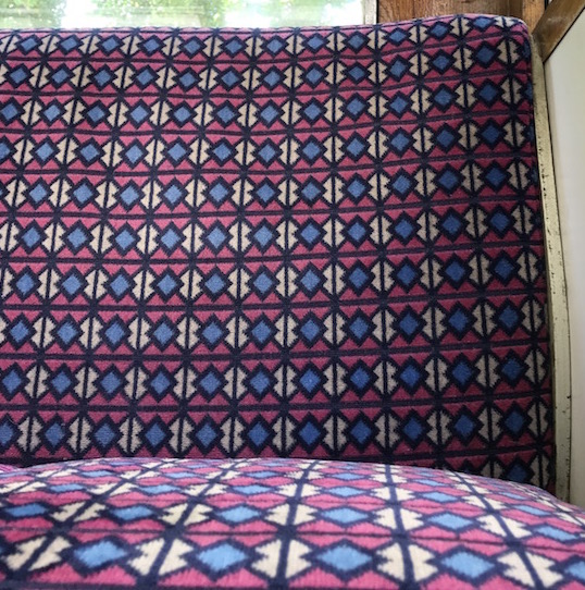 All The Stations Isle of Wight Island Line moquette